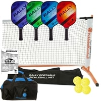 Rally Flare Graphite Set - Four Graphite Paddles, Net, balls, duffel, rules