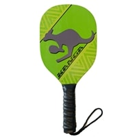 The Kanga wood paddle is cut from white maple with a high quality perforated, black cushion grip. Features our pickleball playing Kangaroo logo!