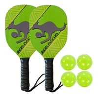 Kanga Wood Paddle Bundle- includes two wood paddles and four green indoor balls