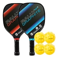 The Rally NXT Bundle includes two paddles and four balls.