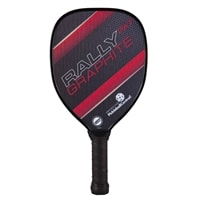 The Rally PXT Graphite with polypropylene core and graphite face, choose from blue green, red or yellow.