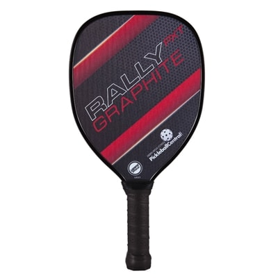 The Rally PXT Graphite with polypropylene core and graphite face, choose from blue green, or red.