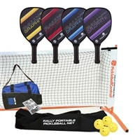 Rally PXT Deluxe Set - Portable Net, Four Graphite Paddles, Four Pickleballs, Bag and Rule Book