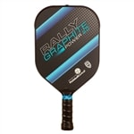 The Rally Graphite Power 2.0 with polymer core and graphite face, choose from blue green, red or yellow in heavier weight for increased power.