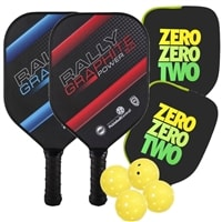 Rally Graphite Power 5.0 Bundle includes two paddles, four balls and two covers.