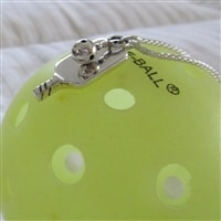 Sterling Silver Pickleball Paddle and Ball
