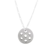 Reversible Sterling Silver Pickleball Pendant
