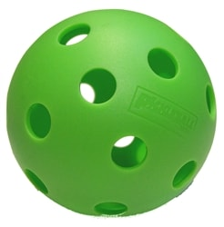 Indoor pickleball, choose from 6, 12 or 27 ball quantity, green only