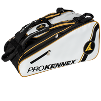 ProKennex Tour Pickleball Backpack features adjustable dividers inside large main compartment.