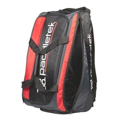 The Paddletek Pro Pickleball Backpack features large compartments, including thermal lined pocket for hot or cold items.