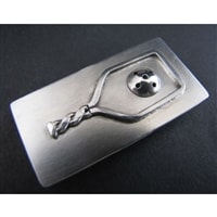 Pickleball Money Clip, sterling silver