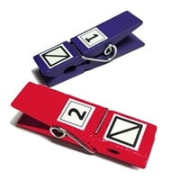 Pickleball Referee Score Clip, choose from several color options.
