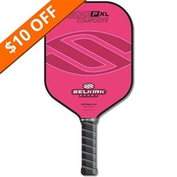The Selkirk 200P Polymer Honeycomb Composite Pickleball Paddle available in several vibrant colors.