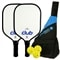 Selkirk Club Composite Bundle, two middleweight composite paddles and 3 outdoor balls
