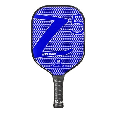 "Composite Z5 Paddle with familiar ""Z"" graphic available in blue, red, green, yellow, black, orange, pink or purple"