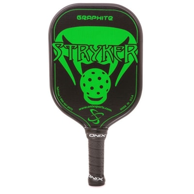 Stryker Graphite Pickleball Paddle, a variety of bright colors in a classic shape with cushion grip.