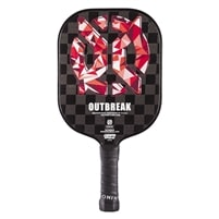 Outbreak Graphite Pickleball Paddle, graphite reinforced face and polymer core.