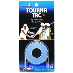 Tourna Tac, available in black, blue or white and can cover three paddle grips or build up for larger diameter