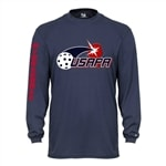 USAPA logo on Volley Longsleeve for Men. Sizes S-3XL. Navy, Safety Yellow, Lime