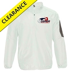 USAPA logo on Mens Sideline Windbreaker. Sizes S-3XL. White