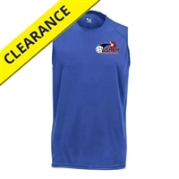 USAPA printed logo on Challenger Sleeveless for Boys. Sizes XS-XL. Royal