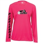 Volley Longsleeve for Women with printed USAPA logo. Sizes S-2XL. Navy, Hot Pink, Safety Yellow