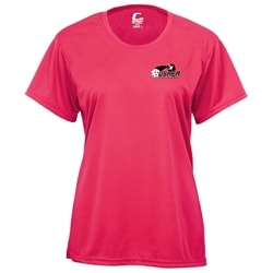 Players Tee for Women with USAPA logo. Sizes S-2XL. Hot Pink, Safety Yellow, Navy, Red