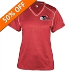 Womens Pro Heather Shirt with USAPA printed logo. Sizes S-2XL. Royal, Red