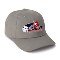 Performance Cap with USAPA embroidered logo . Frost Gray, Navy, Putty