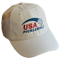 Performance Cap with USA Pickleball embroidered logo . Frost Gray, Navy, Putty, Light Pink