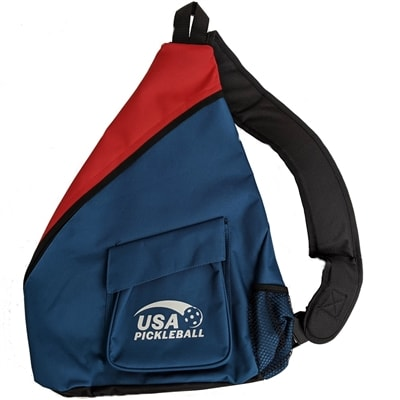 Sling has an adjustable shoulder strap and outside Velcro closure pocket.