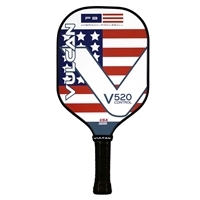 V520 Control Pickleball Paddle by Vulcan, choose from Dead Red or Americana design