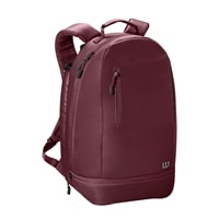 Minimalist Backpack features roomy main compartment with several inner pockets. Choose from black, green or purple