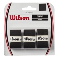 Wilson Pickleball Comfort Overgrip, available in black or white. Package of 3