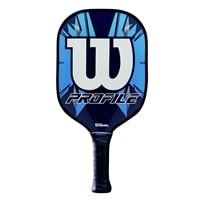 The Wilson Profile Graphite Pickleball Paddle, choose from blue or pink design
