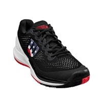 Rush Pro 3.0 Shoe by Wilson for Men in Black/White/Infrared sizes, 7 to 14.