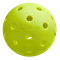 Highly visible neon outdoor pickleball from Wilson, superior flight.