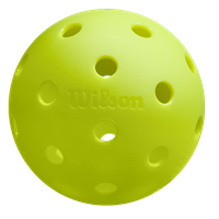Highly visible neon uutdoor pickleball from Wilson, superior flight.