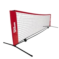 A smaller net that can be raised to a height for badminton. Quick setup