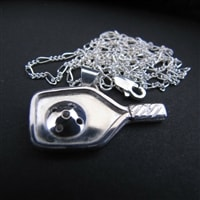 Sterling Silver Pickleball Pendant