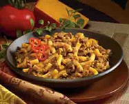 cheese steak macaroni entree from balanced protein diet