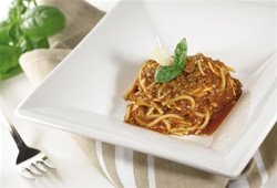 spaghettini bolonese high protein meal from protidiet