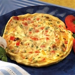 vegetable cheese omelet from balanced protein diet