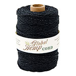 Global Hemp Black 100# Test Waxed Hemp Twine