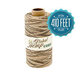 Global Hemp Natural Variegated 20# Test Waxed Hemp Twine