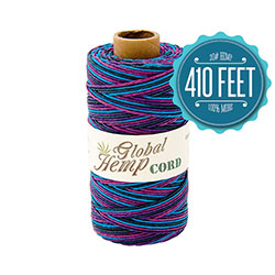 Global Hemp Nightclub Variegated 20# Test Waxed Hemp Twine
