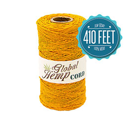 Global Hemp Pastel Orange 20# Test Waxed Hemp Twine