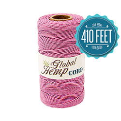 Global Hemp Pastel Pink 20# Test Waxed Hemp Twine