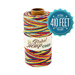 Global Hemp Rainbow Variegated 20# Test Waxed Hemp Twine