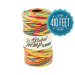 Global Hemp Rasta Variegated 20# Test Waxed Hemp Twine